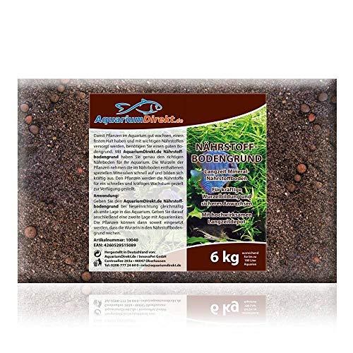 AquariumDirekt Nährstoffbodengrund 6 kg (Langzeit Mineral-Nährstoffboden mit Wurzel-Aktiv-Perlen für kräftige Wurzelbildung - Hochwirksames Aquarium Langzeitdepot für Ihre Pflanzen - Bodengrund)