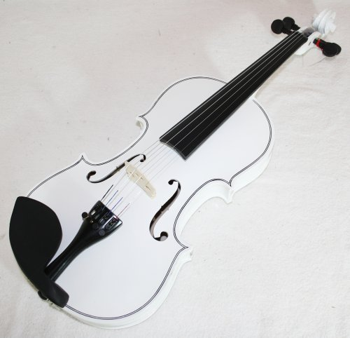 Cherrystone 4260180880960 4/4 Geige/Violine und Koffer Gurt und Bogen weiß
