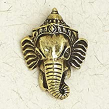 Ganesha-Brass Religion Gold Hindu India Krishna Pendant Jewelry FG-60