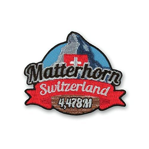 Halterung Matterhorn Schweiz Patch 9cm Embroidered Iron on Badge Bergsteigen Klettern Trek Aufnäher Reisen Souvenir DIY Tasche Rucksack T-Shirt Jacke Gepäck