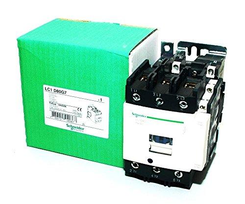 Contactor, 80 A, DIN Rail, 600 VAC, 3PST-NO, 3 Pole, 60 hp