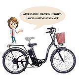 """SOHOO 36V350W10AH 26"""" City E-Bike Mountain Electric Bike (Black)"""