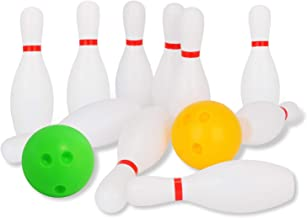 Liberry Kids Bowling Set Includes 10 Classical White Pins and 2 Balls, Suitable as Toy Gifts, Early Education, Indoor & Ou...
