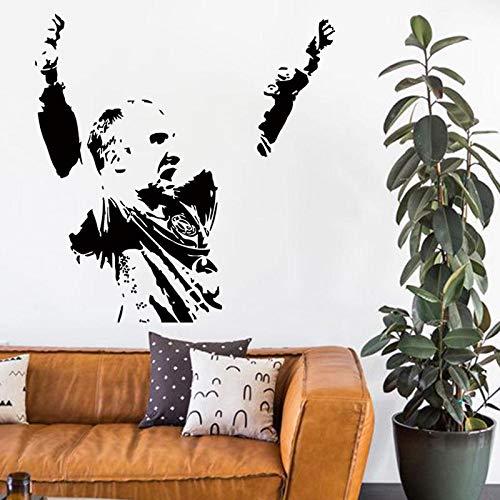 Baobaoshop billige hauptdekoration Vinyl Hand Ball Kunst wandaufkleber abnehmbare PVC Sport Spieler Name d 58 * 85 cm