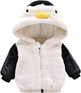 Londony▼ Outwear for Toddler Girls,Winter Penguin Hooded Coat Cloak Jacket Thick Warm Clothes