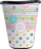 RNK Shops Girly Girl Waste Basket - Double Sided (Black) (Personalized)