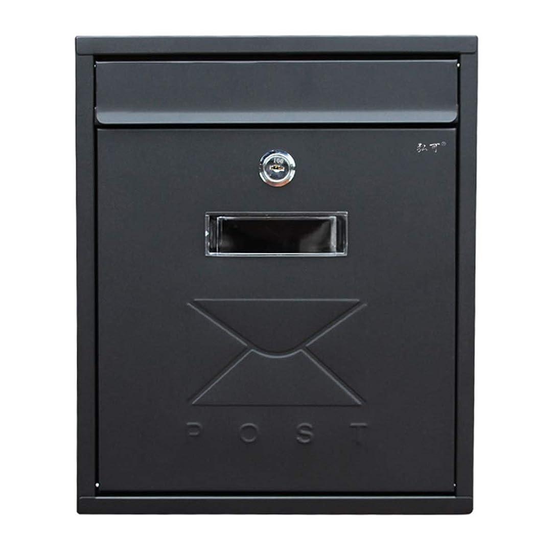 履歴書用心するかんがいYD メールボックス - 亜鉛プレート、ヨーロッパの黒い防水性と防雨性の小さな壁掛けホーム屋外窓のメールボックス、ヴィラ、中庭、家庭に適して - 31X26X9.5cm /#