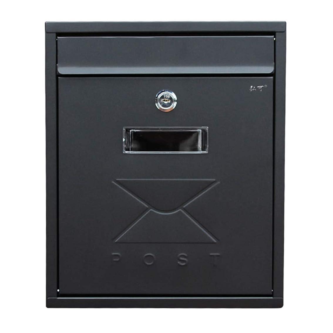 フロースチュアート島精神的にYD メールボックス - 亜鉛プレート、ヨーロッパの黒い防水性と防雨性の小さな壁掛けホーム屋外窓のメールボックス、ヴィラ、中庭、家庭に適して - 31X26X9.5cm /#
