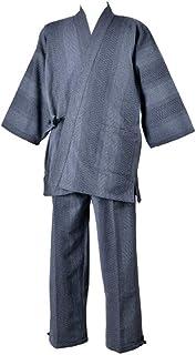 【日本製】作務衣「遠州先染」ドビー刺子