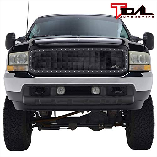 Tidal Replacement Studs Rivet Grille Stainless Steel with Matte Black Shell Fits 99-04 Super Duty F250 F350 F450 F550