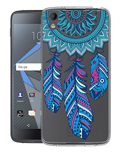 Sunrive Für BlackBerry DTEK50 Hülle Silikon, Transparent Handyhülle Schutzhülle Etui Hülle Backcover für BlackBerry DTEK50(TPU Traumfänger)+Gratis Universal Eingabestift