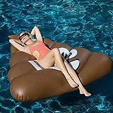 XUEKUN Aufblasbares Schwimm Mat Pool Spielzeug Poop Row Gaint Pool Float Matratze Sunbathe Mat...