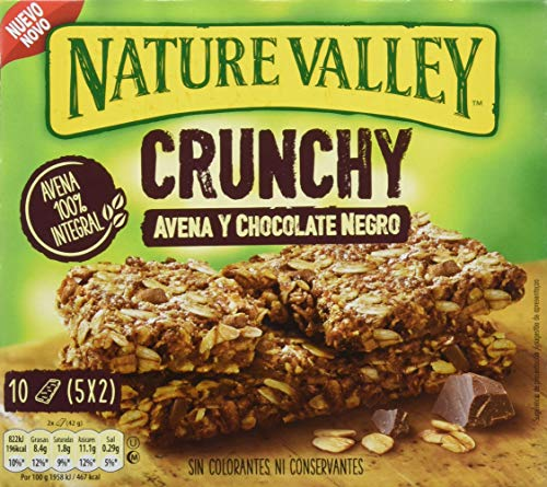 Nature Valley Crunchy Avena y Chocolate Negro Barrita de Cereales, 5 x 42g
