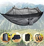 Idefair Hammock with Mosquito Net, Double Camping Hammocks Bug Net Waterproof Portable
