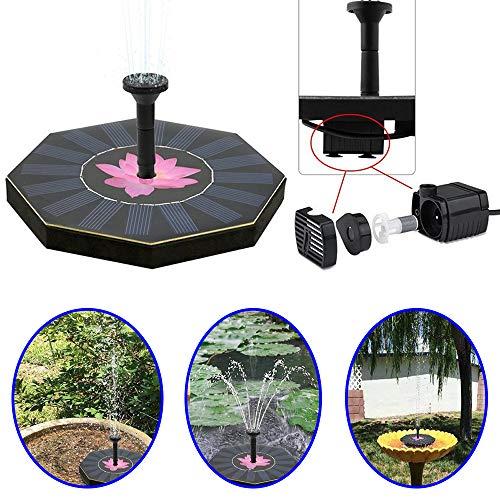 AFAGC Solar Wasserpumpe Floating Solar Powered Fountain Kit, Solar Brunnenpumpe Für Vogelbad, Gartenbrunnen, Kleiner Teich Und Wasserzirkulation
