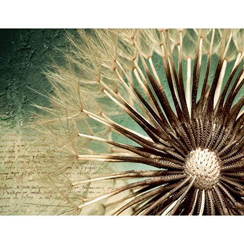 Fototapeten Blumen Pusteblume Vintage 352 x 250 cm - Vlies Wand Tapete Wohnzimmer Schlafzimmer Büro Flur Dekoration Wandbilder XXL Moderne Wanddeko - 100% MADE IN GERMANY - 9023011a