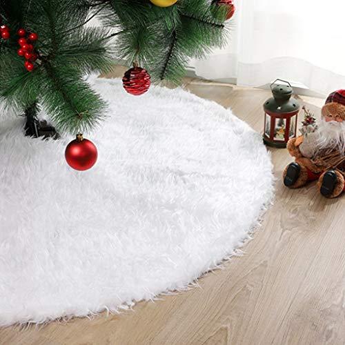 ZSZBACE Weihnachtsbaum Rock Dekoration, 48 Zoll Schneeweiß Weihnachtsbaumschmuck, für Indoor Outdoor Party