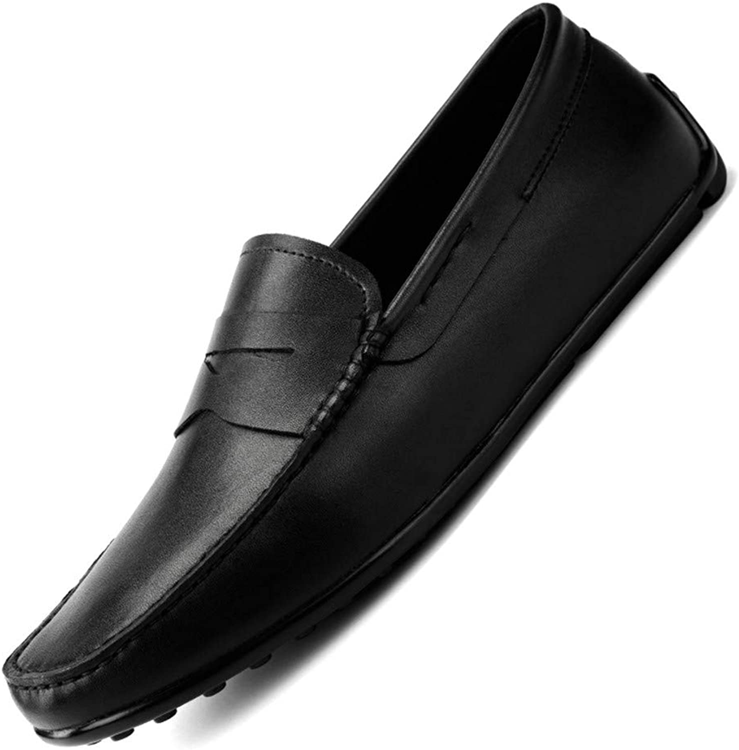 Men's shoes Casual Comfort Loafers & Slip-Ons Flat Loafers Spring, Autumn Comfort Lazy Business shoes Black,Black,39