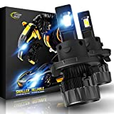 Cougar Motor X-Small H13 LED Bulb, 6500K (Hi/Lo) All-in-One Conversion Kit - Cool White , 360°Adjustable Beam - Halogen Replacement Pack of 2