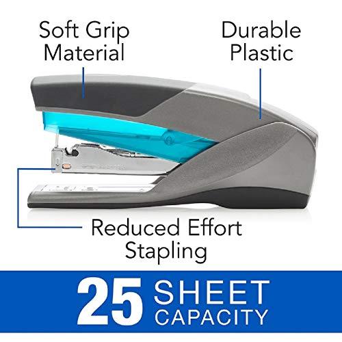 Swingline Stapler, Optima 25, Full Size Desktop Stapler, 25 Sheet Capacity, Reduced Effort, Blue/Gray - Pack of 3 Photo #4