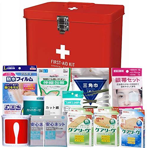 救急セット 赤い缶ケースの救急箱
