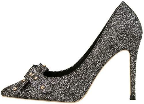 GGXDM Mode Simple Chaussures à Talons Talons Hauts en Daim Rivet Bow Sexy  le plus préférentiel