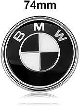 BMW Emblems Hood/Trunk, Black BMW Logo Replacement for ALL Models BMW E46 E30 E36 E34 E38 E39 E60 E65 E90 325i 328i X3 X5 X6 1 3 5 6 7 (74MM)