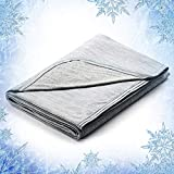 Elegear Revolutionary Cooling Blanket Absorbs Heat to Keep Adults, Children, Babies Cool on Warm Nights. Japanese Q-Max 0.4 Cooling Fiber, 100% Cotton Backing, Breathable, Comfortable, Hypo-Allergenic