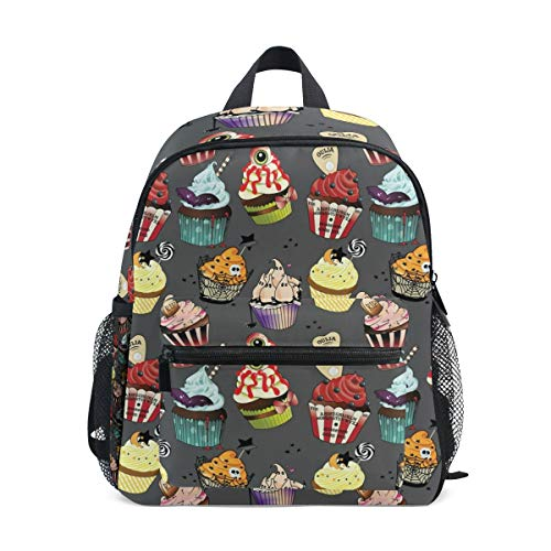 Backpack with Creepy Baking Halloween Print, Mini School Bags for 1-6 Years Old