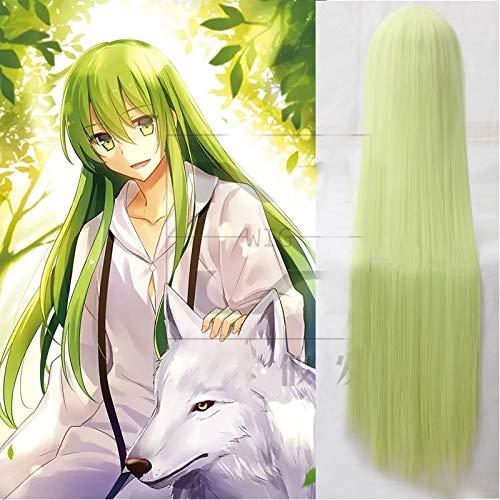 Fate/Grand Order Cosplay Lancer Enkidu 100cm verde largo pelo sinttico Cosplay pelucas + gorro de pelucaFate Grand Order