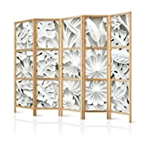murando - Biombo XXL Hojas 3D Efecto 225x171 cm 5 Paneles Lienzo de Tejido no Tejido Tela...