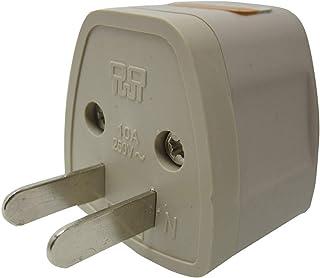 ZOER 全世界対応マルチ変換プラグA型(海外電化製品を日本で利用) A,BF, SE,C, B3, O,B, コンセント変換アダプター 電源形状変換プラグ 世界の家電を日本で使える, 世界のコンセントを日本仕様に変換(1個 NO-001)