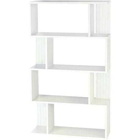 【Amazon.co.jp限定】白井産業 ディスプレイラック 約 幅80 奥行24 高さ143 cm 本 棚 bookshelf ホワイト (KI2-1480 WH キアエッセ2)