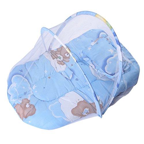 Baby Wiege Bett Moskitonetz Kissen Matratze mit Kissen