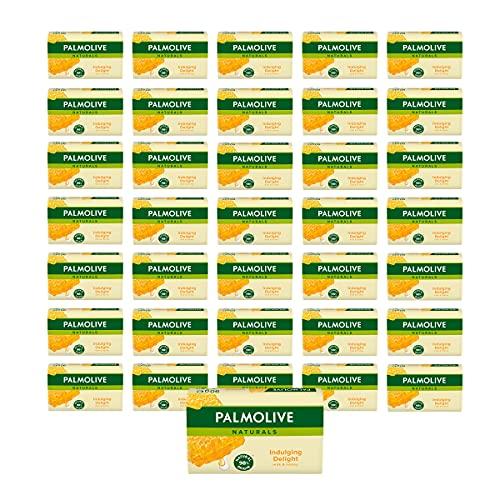 Palmolive Seife Naturals Milch & Honig 36 x 90g - mit Milch und Honig-Extrakten, feste Seife
