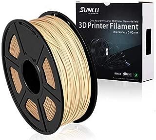 SUNLU PLA Wood 1.75 mm 3D Printer Filament,Real Wood Filament - 1kg Spool (2.2 lbs) - Dimensional Accuracy +/- 0.02mm - 100% Virgin Raw Material