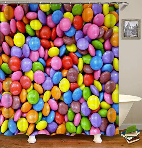 Duschvorhang, Schokoladenbraun, 165cm*180cm Shower Curtain Only