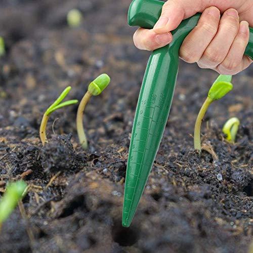 Hieefi Zwiebelpflanzer Werkzeug, Gartenwerkzeug Garten Puncher Erdbohrer Bodenstanzwerkzeug Mit Ergonomischem Handgriff Für Das Pflanzen Sämling Jäten