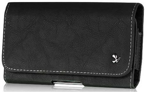 HTC One E8 Horizontal Black Leather…