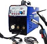 SUSEMSE TIG/MIG/MMA MIG Welder-PlASMAAGRON 3 en 1 multifunción máquina de soldadura Flux Core Wire Soild Core Wire Gas/Gas less 200Amp 220V IGBT Equipo de soldadura MIG235 Azul