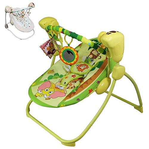 Cadeirinha De Descanso Bebê Musical Balanço Automático Rosa