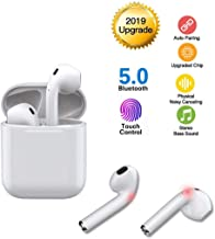 Bluetooth Headphones 5.0 Wireless Earbuds 3D Stereo Earphones With Microphone Noise Cancelling Headsets Pop-up Automatic Pairing Fast Charge Function for iOS/Android/iphone/Samsung/Huawei/Airpods
