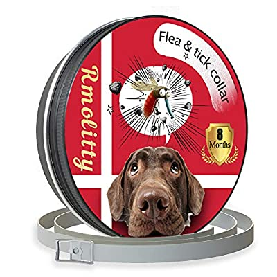 """Rmolitty Flea Tick Collar for Dog Pet, Natural Oils for 8 Months Protection, Adjustable 24"""" Length fits for Small Medium Large Dog by Rmolitty"""