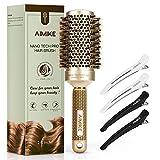 Best Round Hair Brushes - AIMIKE Round Brush for Women, Nano Thermal Ceramic Review