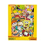 AQUARIUS Nickelodeon 90s Puzzle (1000 Piece Jigsaw Puzzle) - Officially Licensed Nickelodeon Merchandise & Collectibles - Glare Free - Precision Fit - 20 x 28 Inches