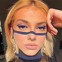 3 pezzi di protezione per il viso trasparente con aperta, mezza per il viso in plastica trasparente per il viso protezione elastica comoda per la bocca, protezione per il viso di sicurezza #5