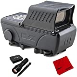 Meprolight ML68553 Mepro Foresight Augmented Red Dot Sight Bundle with Deco Gear Tactical Flashlight, Tactical Pen Set with Water/Shockproof Case and Microfiber Cleaning Cloth