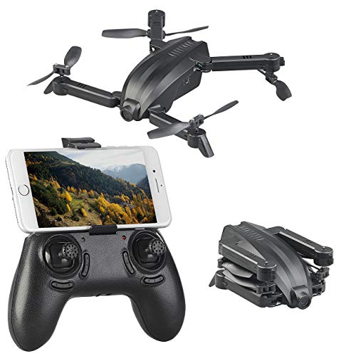 Simulus Quadcopter: Faltbarer FPV-Mini-Quadrocopter mit HD-Cam, WLAN & App, 2,4 GHz, 50 m (Drohne mit Kamera)