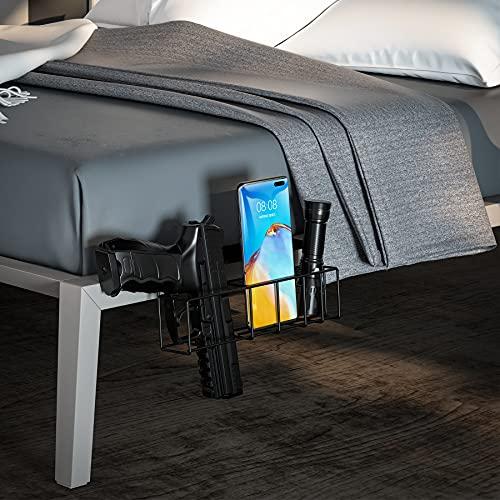Ideagle Bedside Gun Holster, Universal Handgun Holster, Gun Holster Under Mattress, Gun Holder with Cellphone Flashlight Slots