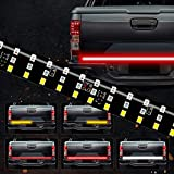 SOCAL-LED 1x 60' Triple Row LED Tailgate Light Bar Strip Red White Yellow Switchback, Sequential Turn Signal/Reverse/Brake/Tail Light Kit